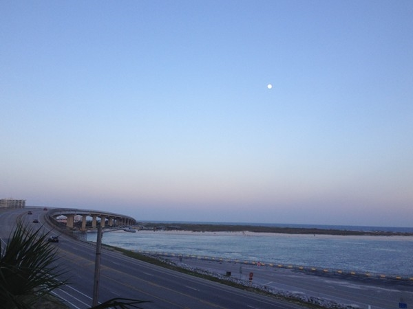 View of The Pass bridge from The Pass condo's in Orange Beach