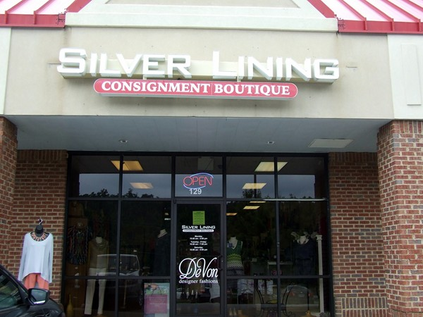 Hoover has wonderful consignment shops like Silver Lining Consignment Boutique on Hwy 150.