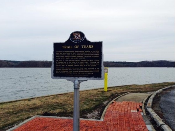 Trail of Tears landmark in Waterloo, Alabama