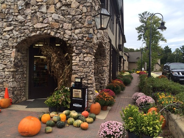 The General Store at the town of Mt. Laurel is ready for fall!