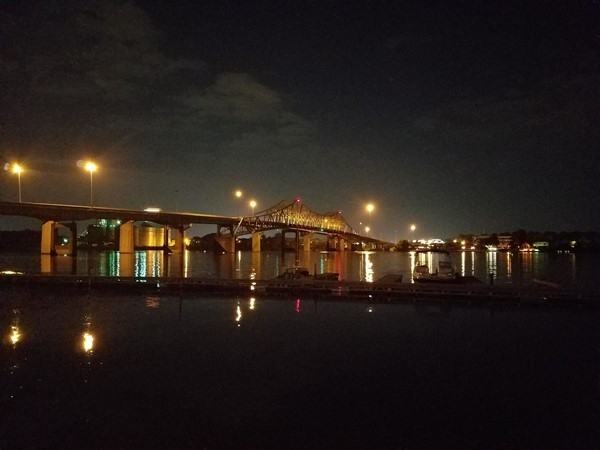 Beautiful view of the River Bridge from the Hard Dock
