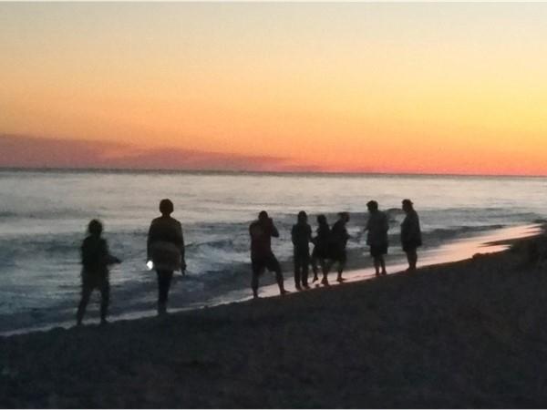 Fall sunset on Orange Beach Alabama