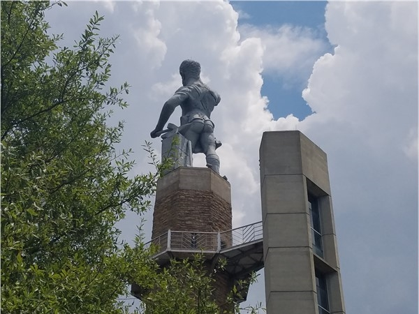 You have to visit Vulcan Park to see the famous iron statue from this angle