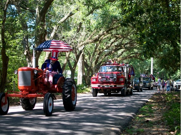 "Just a part of the ""world's smallest July 4th Parade"" in Magnolia Springs!"