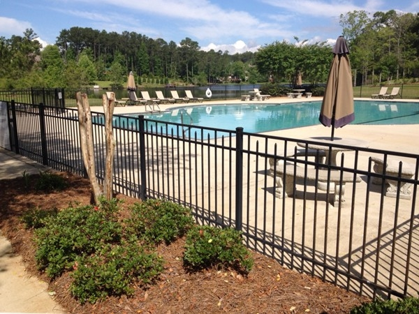 Community pool that overlooks one of the lakes.