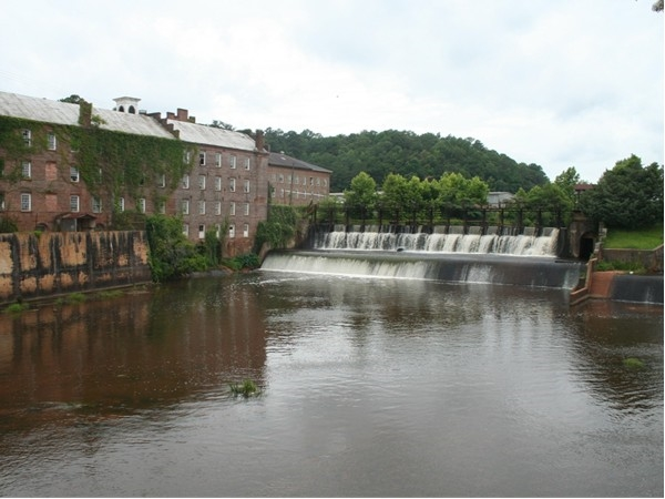 The dam in the heart of Prattville