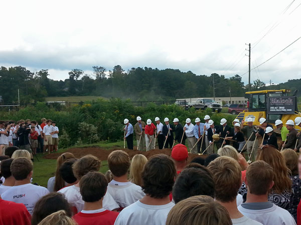 Ground breaking for the new Hewitt Trussville football stadium