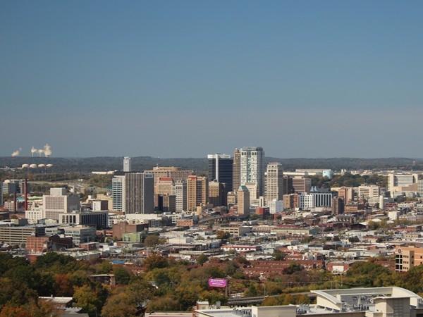 Birmingham skyline looking towards west Jefferson