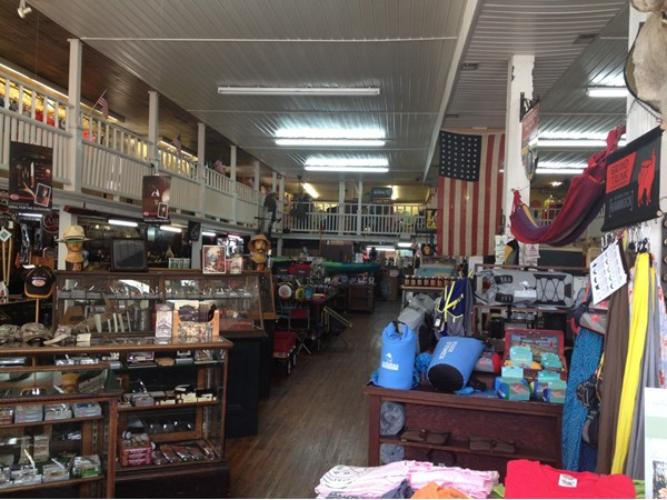Inside U. G. Mercantile in downtown Athens