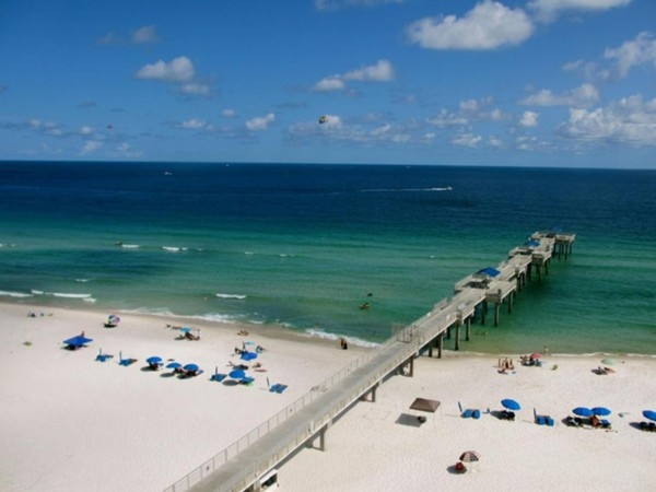 Four Seasons of Romar Beach has the only private Gulf front pier in Orange Beach