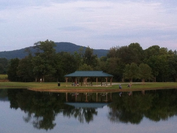Enjoy an evening stroll on the greenway trail by the lake in Jones Valley