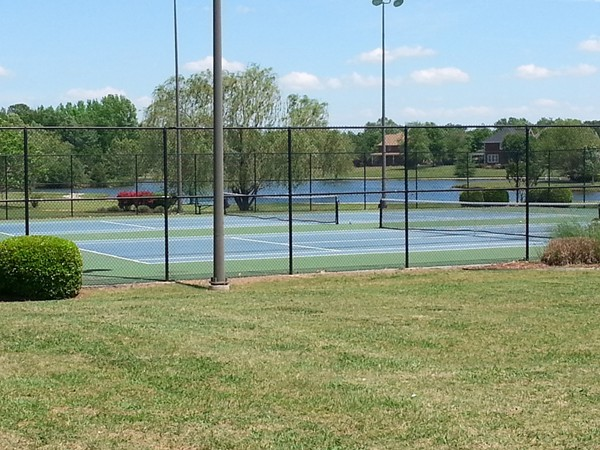 The tennis courts near the Carriage House of Heritage Plantation in Madison