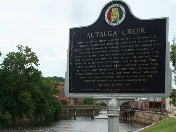 Autauga Creek runs through downtown