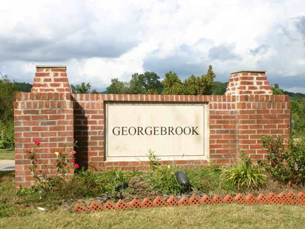 Entrance to Georgebrook Subdivision