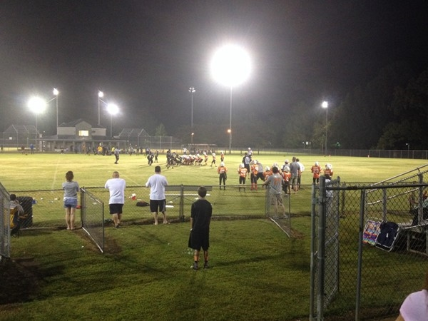 Another great night at one of Huntsville Parks watching kids play football. Richard Showers Park