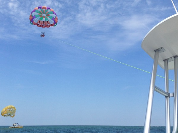 Para-sailing over Gulf Shores - A must do!