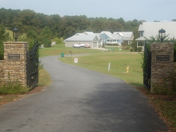 Perkins Landing gated subdivision on Lay Lake
