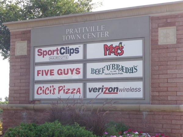 Prattville Town Center is located right off of Cobbs Ford Road in Prattville