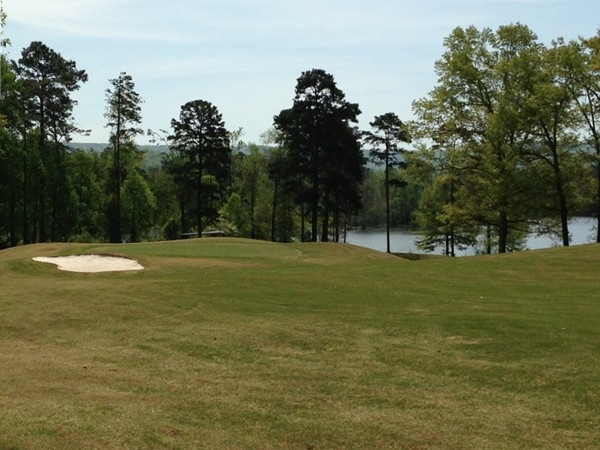 Hole #2 at Goose Pond Colony Golf Course in Scottsboro, AL