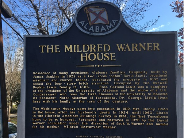 The Mildred Warner House is listed on the National Register of Historic Places