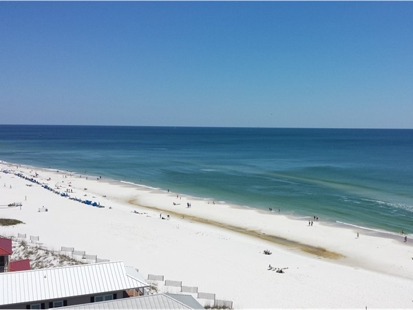 What's missing from this photo? Easy answer-you at Orange Beach!