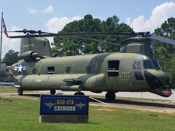 Chinook helicopter located at PEO Aviation. First Chinook flew in 1949