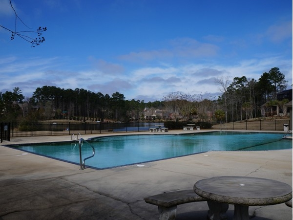 View from a pool: The lake in Stillwater, Spanish Fort, AL