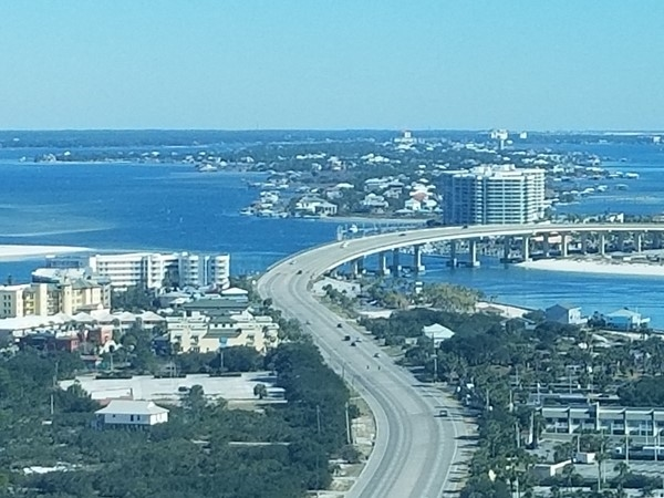 The Pass Bridge in Orange Beach taken from the 25th floor of Turquoise Place Condo