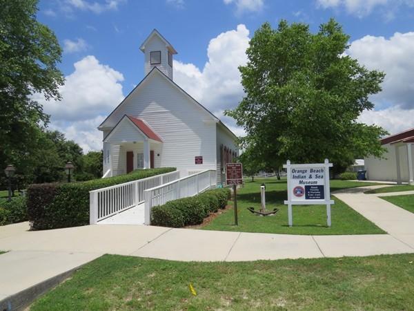 Orange Beach Indian & Sea Museum - did you know it was originally a 1910 schoolhouse?
