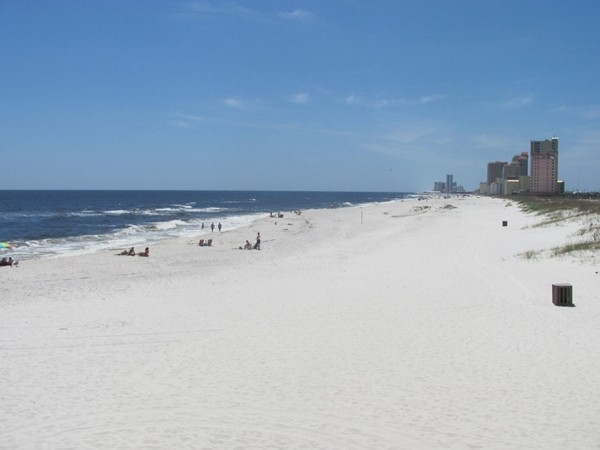 Looking towards West Beach from the Gulf State Fishing Pier