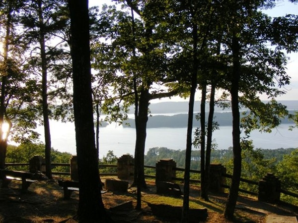 Typical view from Lake Guntersville State Park overlooking the lake