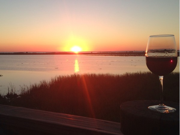 Breathtaking sunset on the back deck of Boudreaux's Cajun Grill. What a wonderful place to unwind!