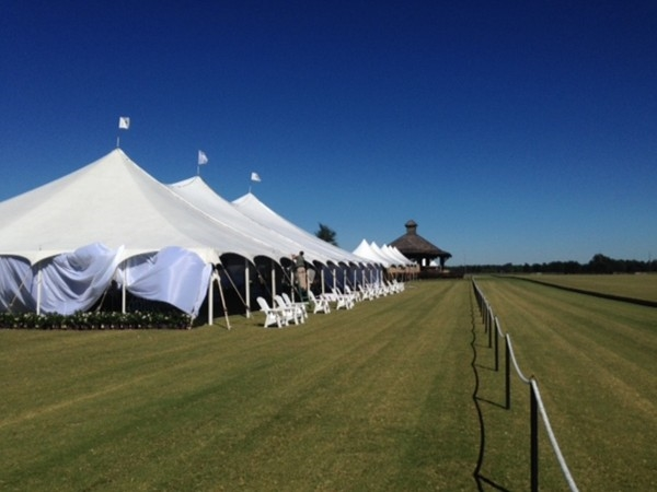 Luncheon tent at Sunny Hills for Polo