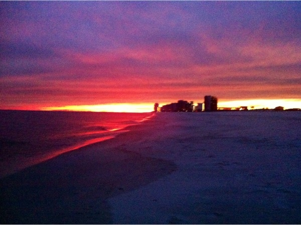 The sky was on fire last night!! Truly the best time of year to visit the Gulf Coast