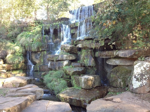 Waterfall at Spring Park in downtown Tuscumbia, Al