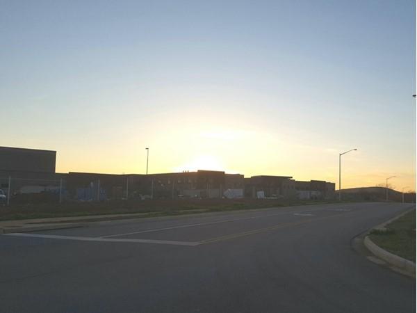Sunset over the new Grissom High School development