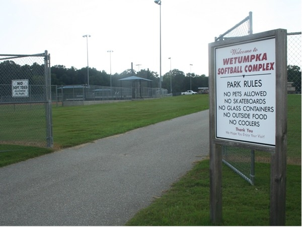 Wetumpka Softball Complex is used for city-league games and high school tournments