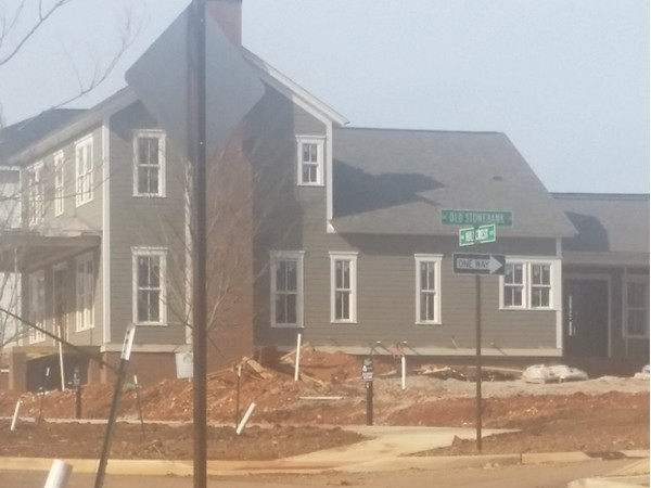 A Craftsman style home under construction