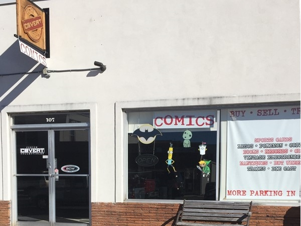 Cavert Comics, located in Foley, has a large selection of comics