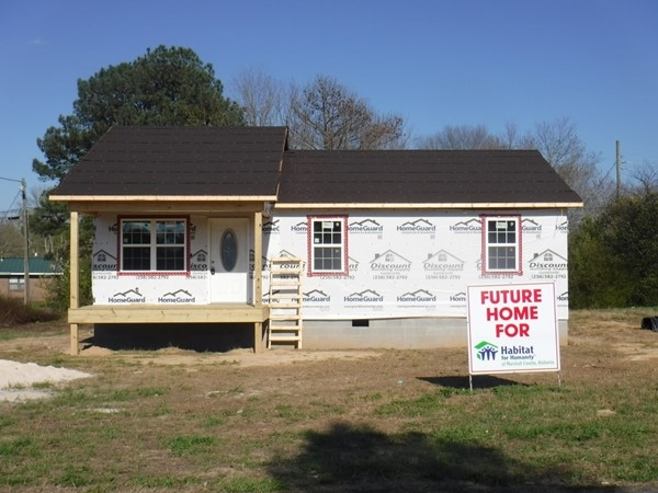 Habitat for Humanity of Marshall County, AL home being constructed in Boaz