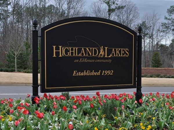 Highland Lakes Front Entrance, makes you happy to come home every night!
