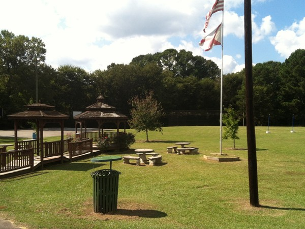 A pretty day at the Adamsville Park and playground area