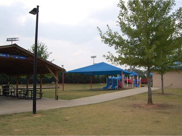Pavilions and pPlayground at Veterans Park