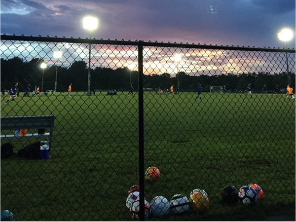 Cool night to watch some Auburn Thunder soccer