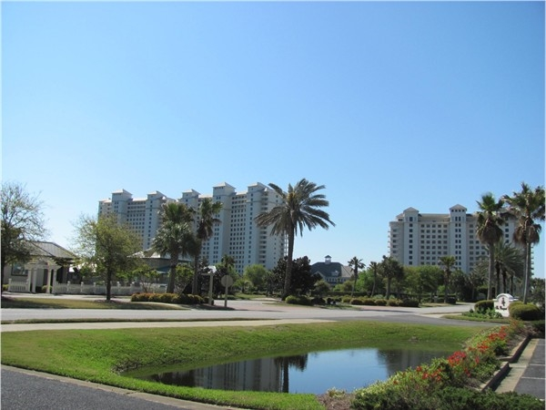 A view of the Beach Club Cottages and Beach Club Towers