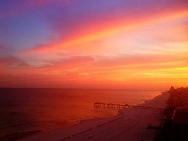 One of our beautiful sunsets here in Orange Beach