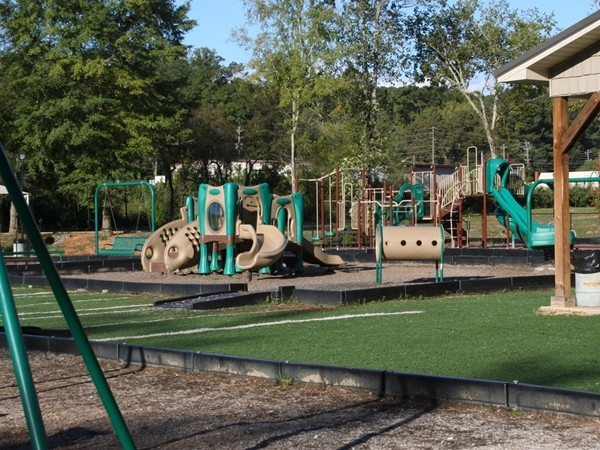 Big Springs Park's play areas for babies/toddlers, young children and older children