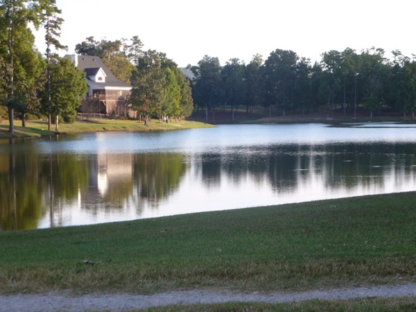 Greystone Farms has a beautiful lake with a walking trail going completely around it