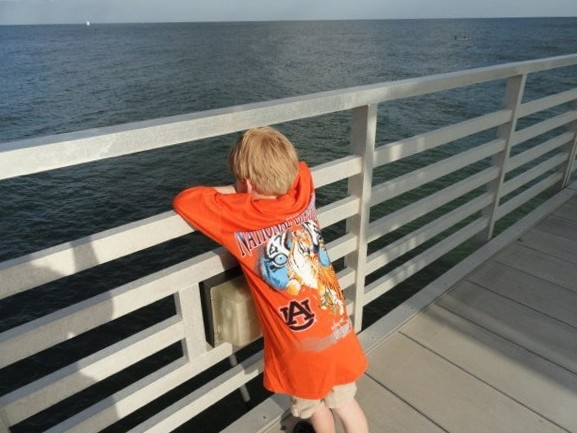 Dreaming of catching the big one off the pier at Four Seasons of Romar Beach Condominiums