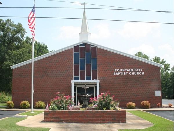 The beautiful Fountain City Baptist Church